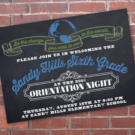 elementary graduation invitations, graduation invitations, school orientation invitations, sixth grade graduation invitations, IN313