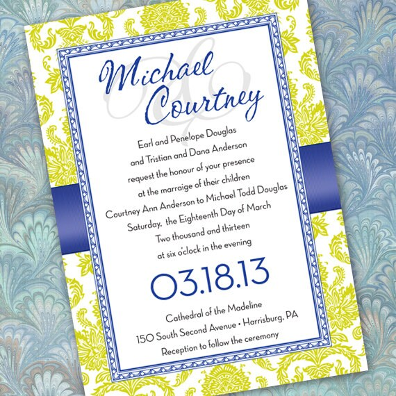 wedding invitations, wedding invitation with rsvp, lime wedding invitations, retirement party, wedding package, IN163