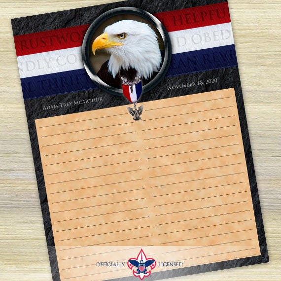 Sign-In Sheet, Eagle Scout Court of Honor, Customized, Court of Honor, BSA, BSA0505