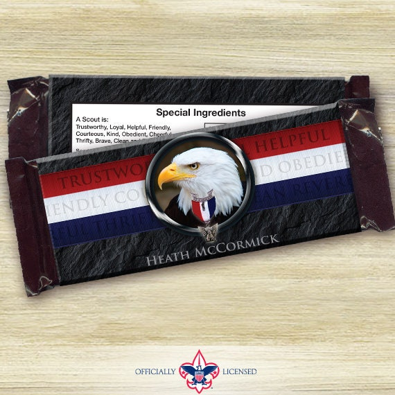 Eagle Scout candy bar wrappers, Eagle Scout Court of Honor, Hersheys chocolate bar wrappers, Court of Honor, BSA0504