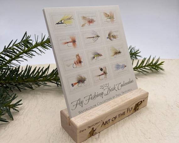 2021 desk calendar, fly fishing desk calendar, dry fly calendar, nymph calendar, Paul Twitchell fly fishing calendar, desk calendar