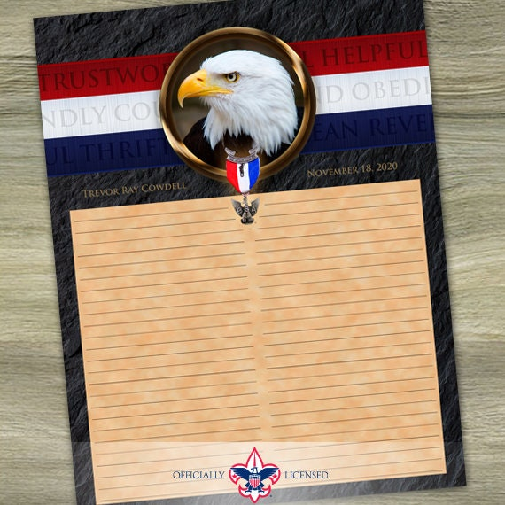 Sign-In Sheet, Eagle Scout Court of Honor, Customized, Court of Honor, BSA, BSA0305