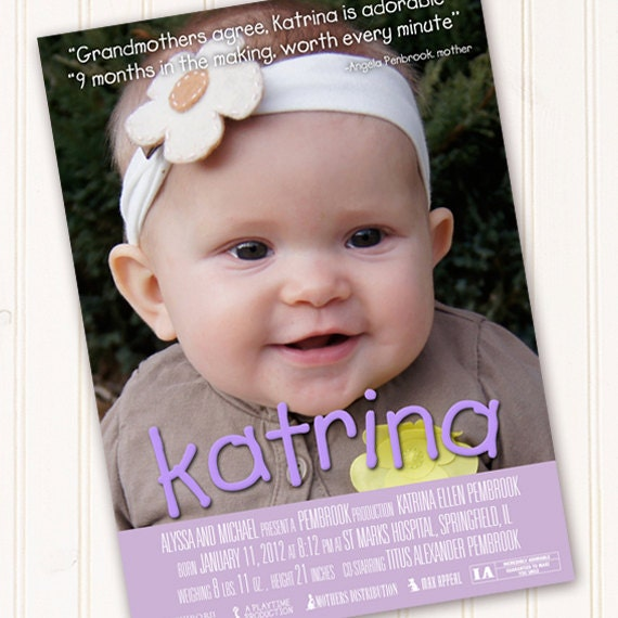 movie poster birthday party, movie poster baby shower invitation, movie poster first birthday, movie poster announcement, movie poster grad