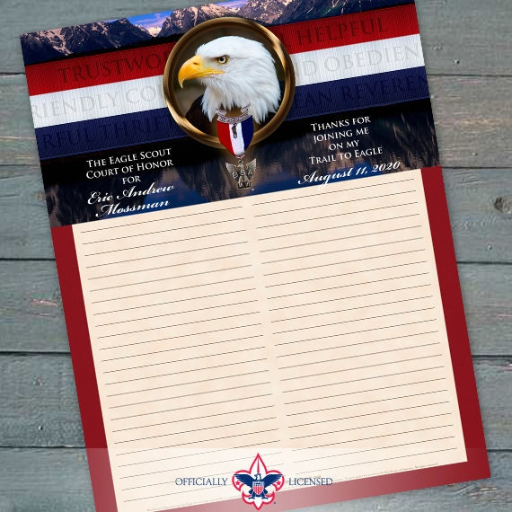 Sign-In Sheet, Eagle Scout Court of Honor, Customized, Court of Honor, BSA, BSA0605