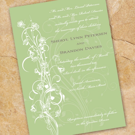 wedding invitations, sweet pea wedding invitations, sweet pea bridal shower invitations, sweet pea girl party, wedding package,