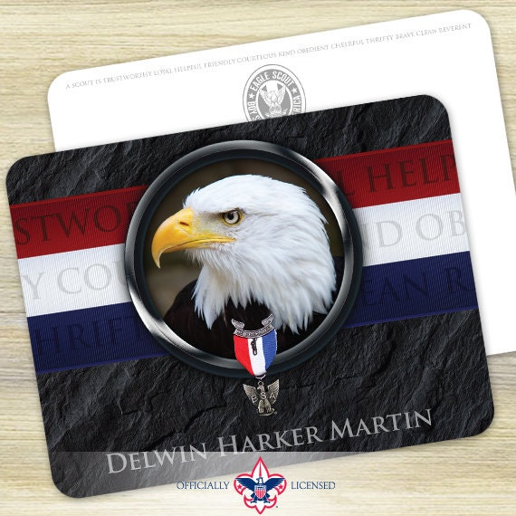 Thank You Cards, Eagle Scout, Customized, Court of Honor, BSA0512