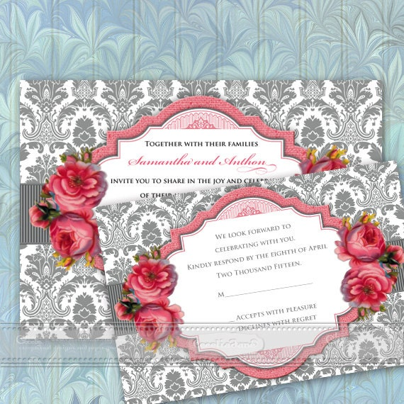 wedding invitations, rose wedding invitations, rose bridal shower invitations, baby shower invitations, wedding package, IN360