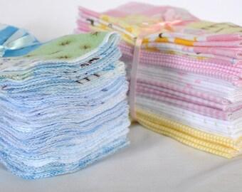Cloth Baby Wipes Starter Kit. 3 dozen wipes.  Eco friendly reusable wipes.