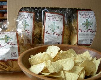 Corn Tortilla Chips, NON-GMO, Heirloom white corn tortilla chips, gluten-free, Case of 12/12 oz bags