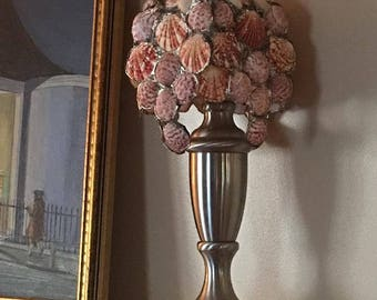 Beautiful Seashell Lamp Shade - Handmade - Signed and Numbered by Artist