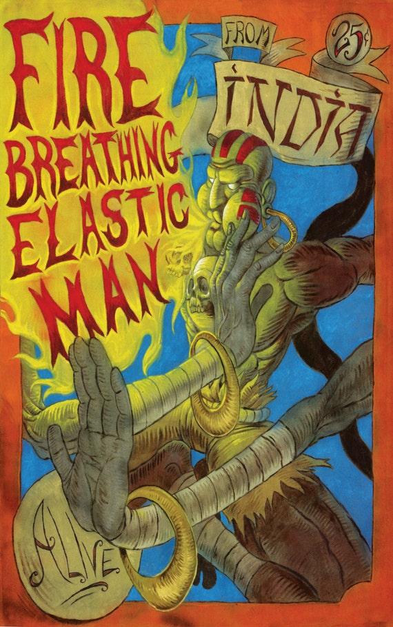 Fire Breathing Elastic Man Etsy
