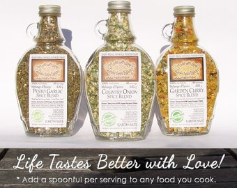 Pick Any 6 - Collect the Edible Rainbow - Six Eco Artisan Gourmet Spice Blends - Food Market - Herb, Spice & Veggie Blend