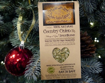 2 oz Country Onion Artisan Gourmet Spice Blend Food Ornament BBQ Grill Rub Spice DIY Dip Mix Pasta Sauce Mix Herb & Spices Organic Spice Mix