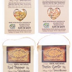 4 Pack - Artisan Spice Blends - Green Gift - Organic Food Herb Spice - DIY Pasta Sauce Mix - Dip Mix - Dressing Mix Kitchen Pantry