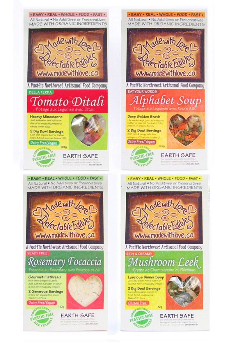Four Artisan Magic Meals  Gourmet Gift Box  Food  Edible image 0