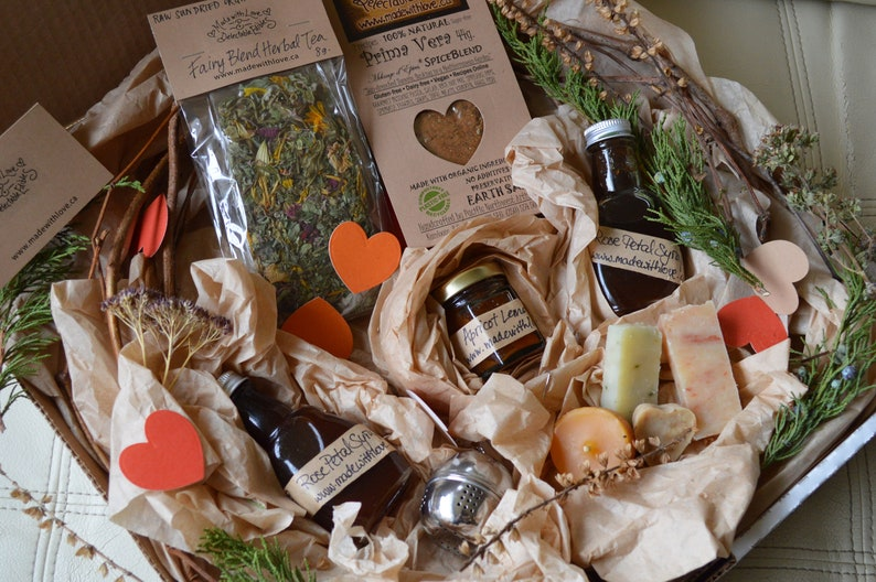 FIVE Fairy Love Eco Gift Box Foodie Gift Box Gourmet Goodies image 0