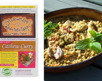 Cashew Curry Oven Roasted Dinner Kit - Organic Chicken or Vegan - Gluten-Free Dairy-Free - DIY Magic Meal Mix -