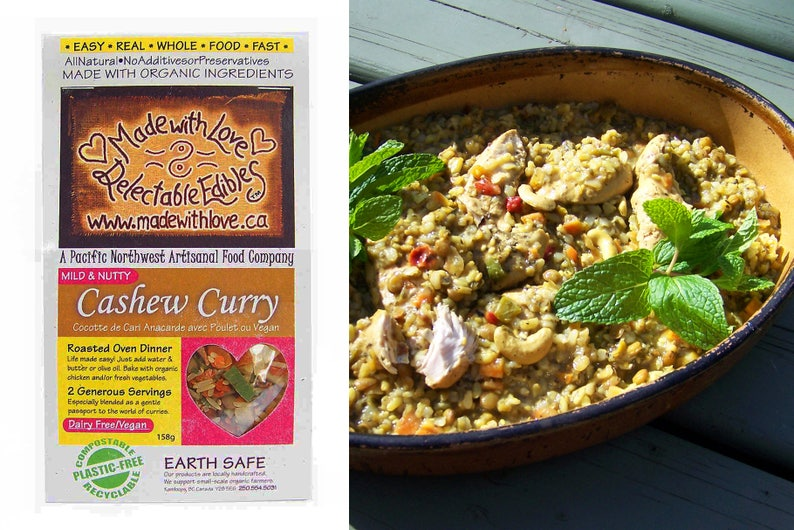 Cashew Curry Oven Roasted Dinner Kit  Organic Chicken or image 0