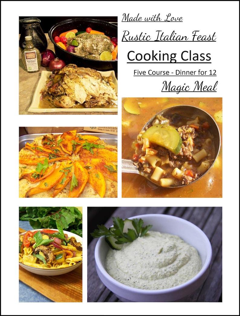 DIY LoveWeek Kit 5 Course Rustic Italian Feast Eco Grocery image 0