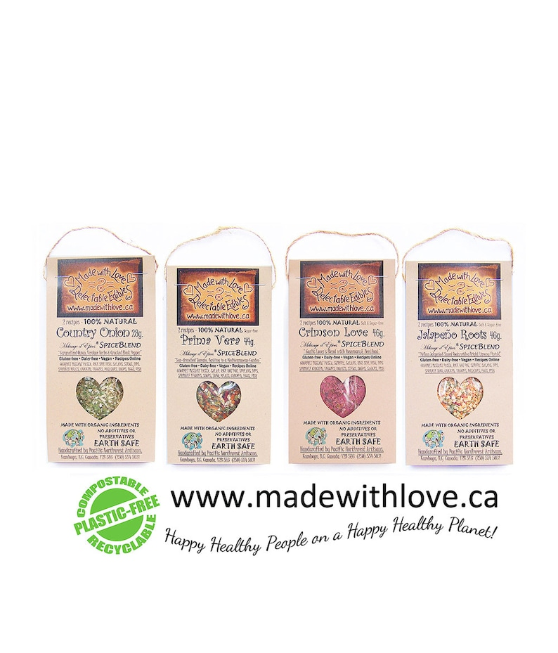 Four Artisan Spice Blends  Eco Green Edible Christmas Gift  image 0