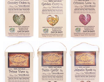 Buy Six Flavours - The Perfect Edible Gift  Made with Love - Gourmet Spice Blend Organic Herb Spice DIY Pasta Sauce Mix Dip Mix - Real Food