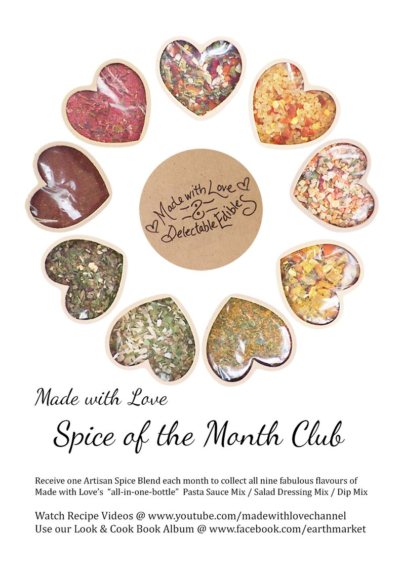 Spice of the Month Club  Nine Artisan Spice Blends Organic image 0
