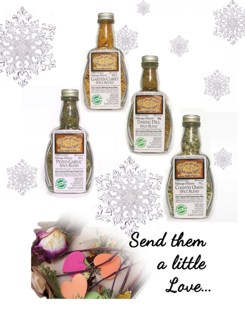 Foodie Gift  Made with Love  4 Artisan Spice Blends Spice image 0