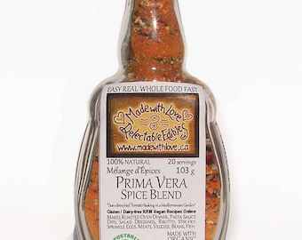 Prima Vera Sundried Tomato Artisan Spice Blend - Gluten Free Dairy Free Vegan Food Market Herbs & Spices