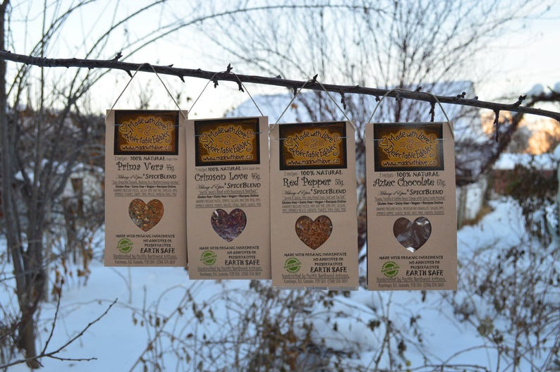 Foodie Gift Four Artisan Spice Blends Natural Spices Artisan image 0