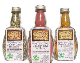 Triplet of Artisan Spice Blends - Herbs & Spices - Gift Set - Organic Food DIY - Grill Rub - Dip Mix - Pasta Sauce Mix - Salad Dressing Mix