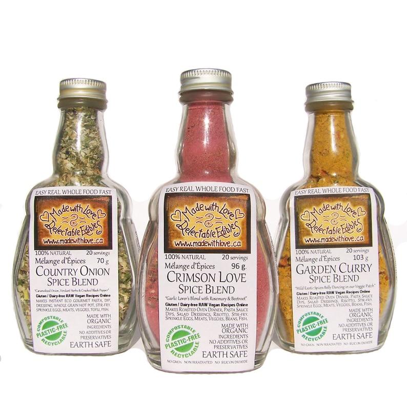 Triplet of Artisan 4.5oz Spice Blends Herbs & Spice Gift Set  image 0