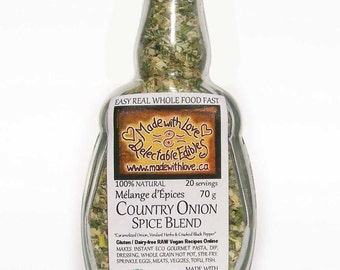 Country Onion 4.5oz Herbs & Spice Artisan Spice Blend - Poultry Seasoning Great BBQ Grill Rub - Organic Spices Dip Mix - Ranch Spice  - Food
