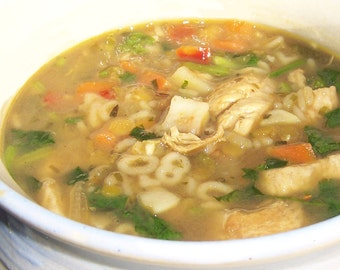 Alphabet Soup Mix - Organic Magic Meal Dried Soup Mix - just add water, oil & chicken  Back to School - DIY Soup Mix - Thermos - Lunch Food