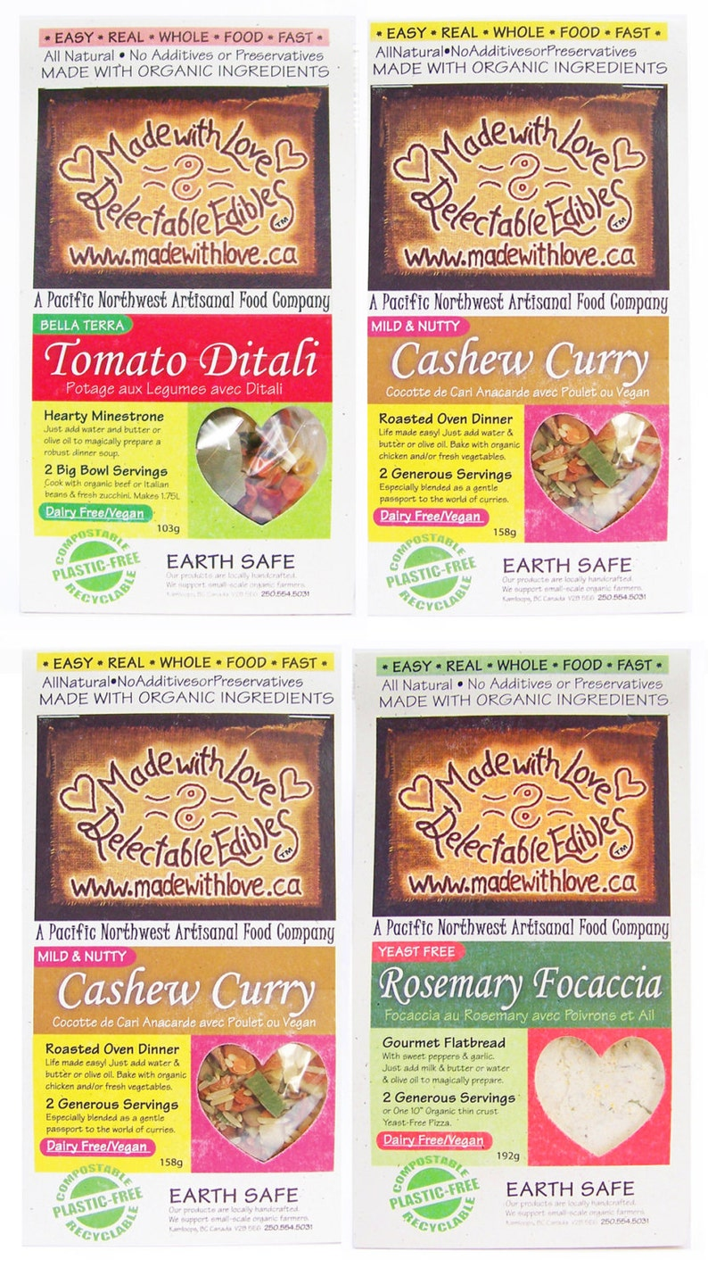 Four Artisan's Magic Meals  Eco Gift Box  Food Market  image 0
