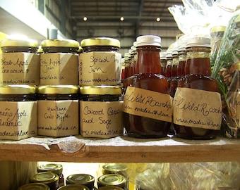 Organic Preserves - Jams, Jellies, Syrups - Made with Organic Cane Juice Sugar & Local Organically Grown Handpicked Fruit 45 mL Artisan Food