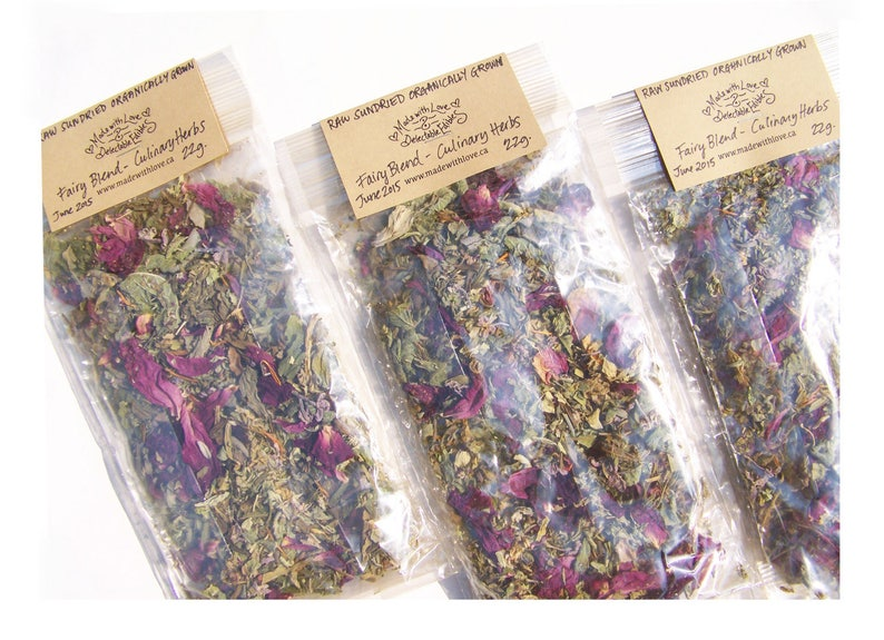 Fairytale Gift RAW Sun Dried Fairy Blend  Culinary Herb image 0