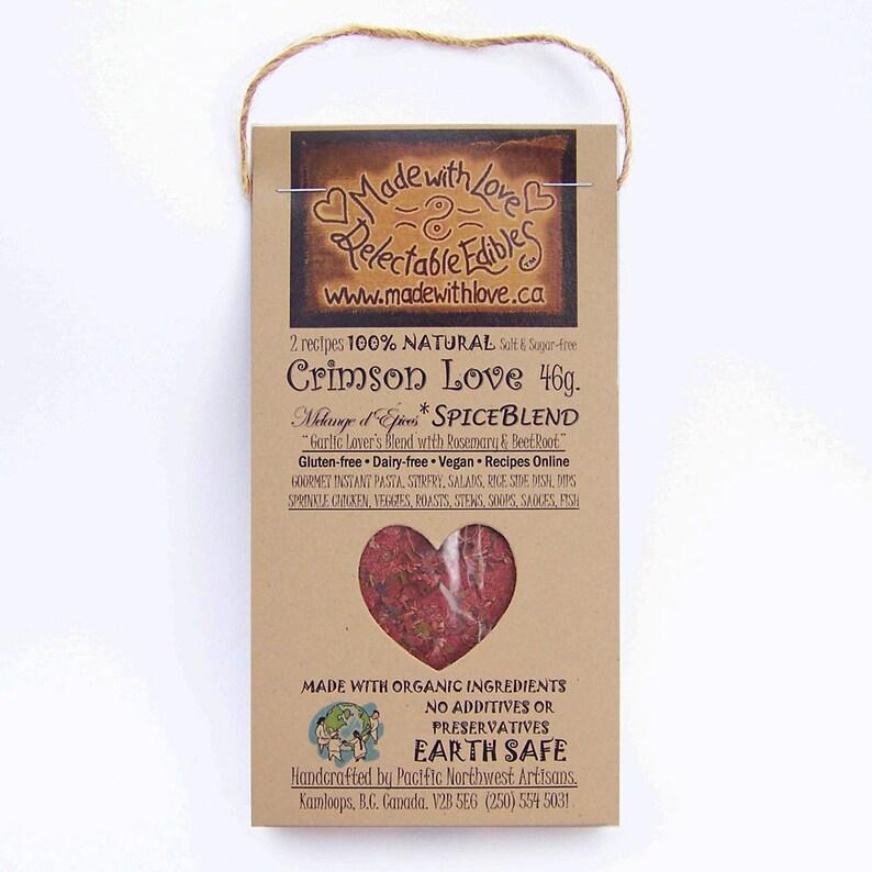 2 oz Crimson Love Artisan Spice Blend  RAW Gourmet Organic image 0