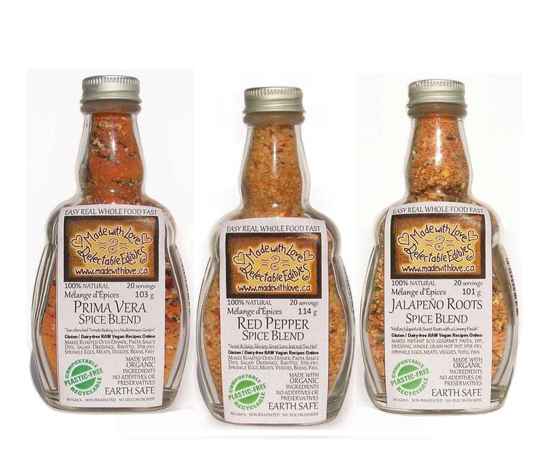 Triplet of Eco Artisan Spice Blends  Pasta Sauce Mix  Dip image 0