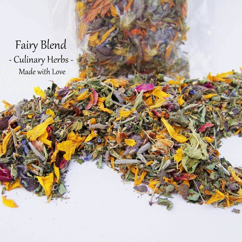 RAW Sun Dried Fairy Blend Culinary Herb & Flower Mix  Edible image 0