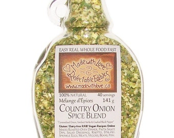 9 oz Country Onion Artisan Spice Blend - Best Ever Roast Chicken Spice Mix Gourmet - Easy Real Whole Food Fast - Organic Food Herb Spice