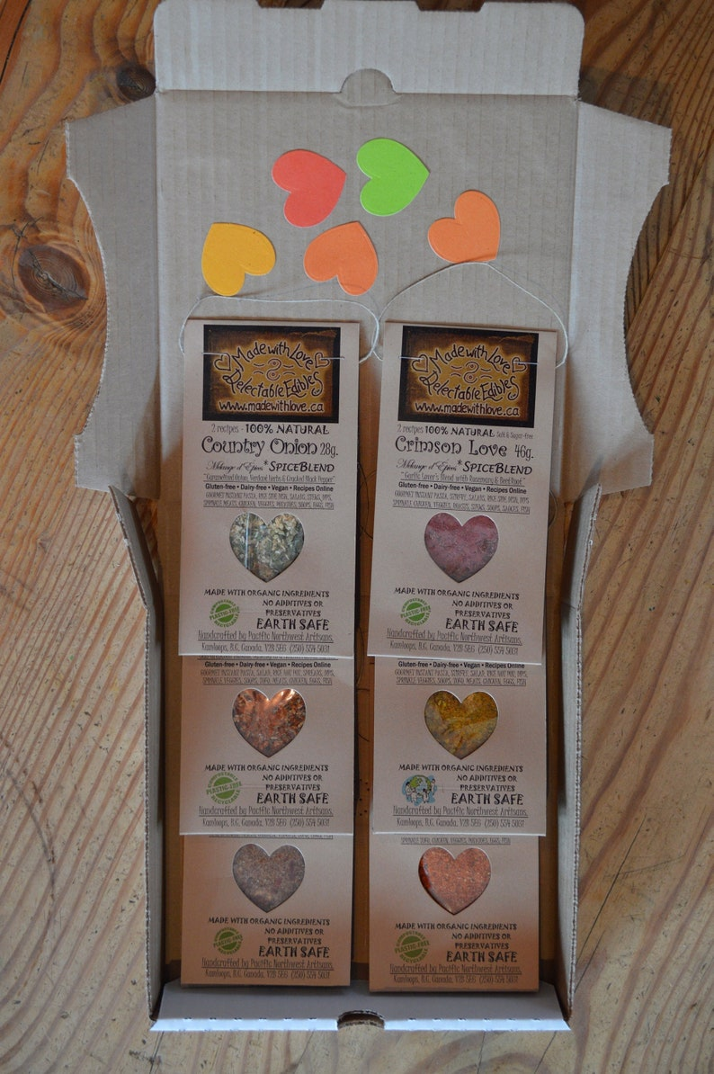 Six Artisan Spice Blends Made with Love Organic Herb Spice image 0