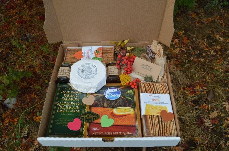 Foodie Gift Wild Smoked Salmon Artisan Gift Box Charcuterie image 0
