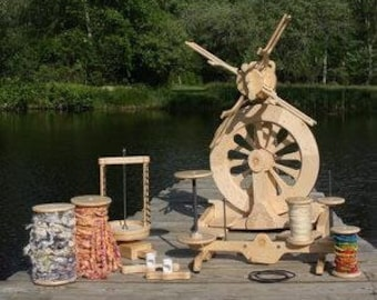 PACKAGE DEAL SpinOlution Monarch Spinning Wheel / 2 flyer package with bobbins and accessories