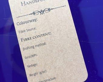 Handspun Yarn tags for spinners - 50