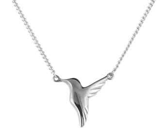 Tiny Hummingbird Necklace