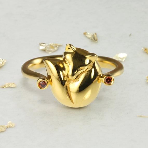 NEW Foxy Silver Ring Fox Band Animal Wrap Rings Women Jewelry Vintage Fashion