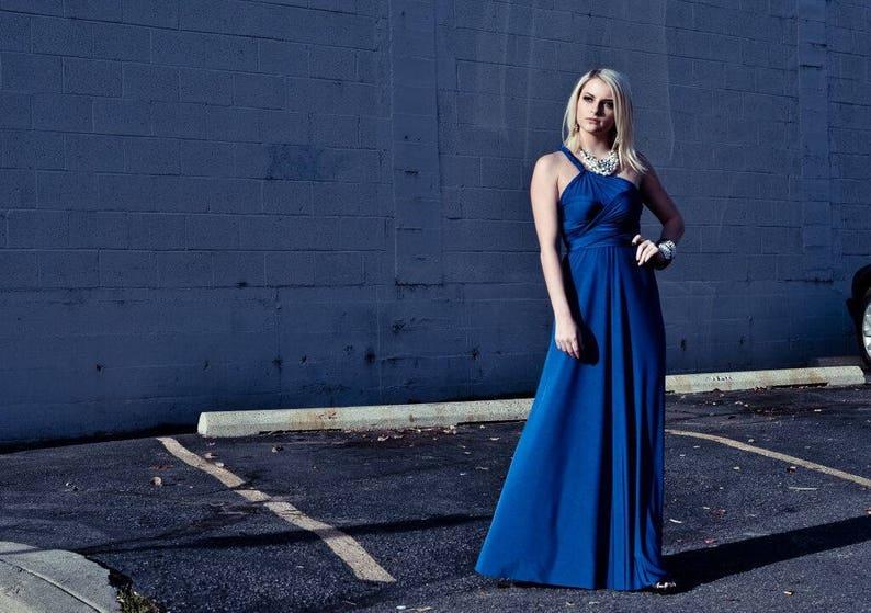 Petite Convertible Infinity Dress with Long Slim Maxi Skirt