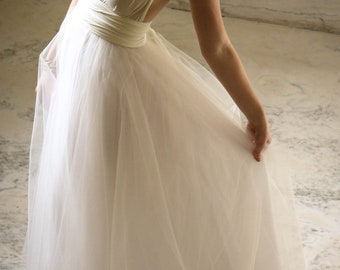 "SALE Royal Tulle Ballgown  ""Infinity"" Wedding Dress - Ivory"