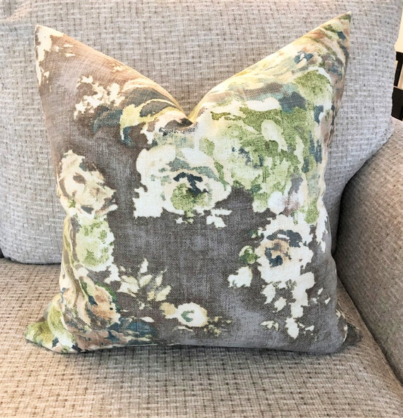 Sage green grey Pillow Throw Pillow