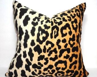 Braemore Jamil Velvet Cheetah Animal Print Pillow Cover Velvet Black & Tan Pillow Cover Leopard Print Choose Size